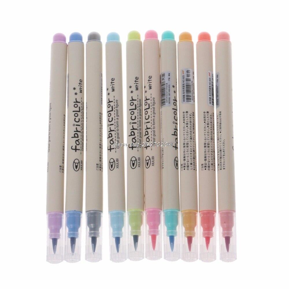 все цены на 10 Colors Watercolor Marker Pen Soft Brush Calligraphy Sketch Drawing Painting HUZZ_26 онлайн