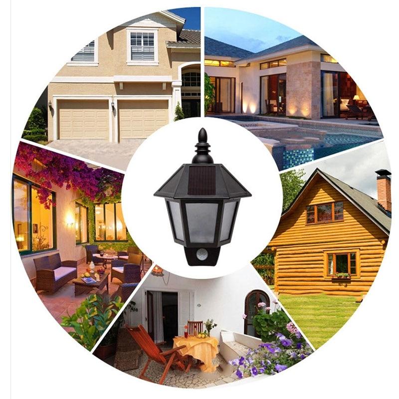 Solar Powered Motion Sensor Night Light Outdoor PIR Led Waterproof Fence  Wall Garden Hallway Porch DeckOnline Get Cheap Led Pir Light  Aliexpress com   Alibaba Group. Exterior Pir Led Lights. Home Design Ideas