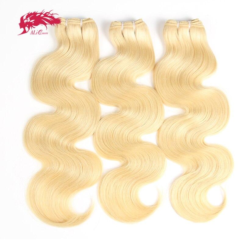 Ali Queen Hair 613 blonde Brazilian hair bundles Body Wave Virgin Hair 3PCS 613 hair extensions Free Shipping