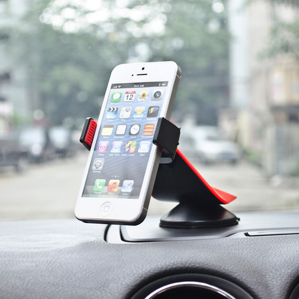 10e98cf96a0b76 Car Mount Holder 360 degree Car Windshield Mount Cell Phone Holder Bracket  Stands For Samsung iPhone MP4 iPod GPS iPad Mini-in Mobile Phone Holders &  Stands ...