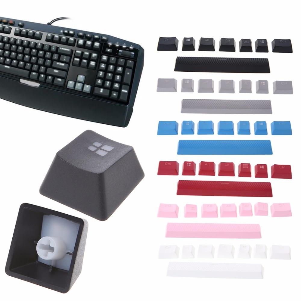 8 Keys PBT Double Backlit Additions Keycaps Keycaps For Corsair STRAFE K65 K70 G710 Mechanical Gaming Keyboard New C26