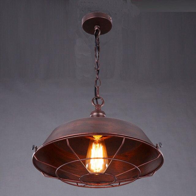 retro hanglamp eenvoudige vintage bruin metalen cover lamp voor