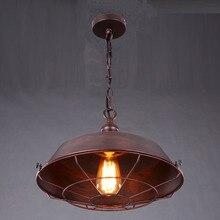 Retro colgante de la lámpara/Simple metal marrón de la vendimia cubierta de la lámpara De Luces De La Cocina Del Gabinete Sala de Estar/comedor tienda/cafe/bar/oficina