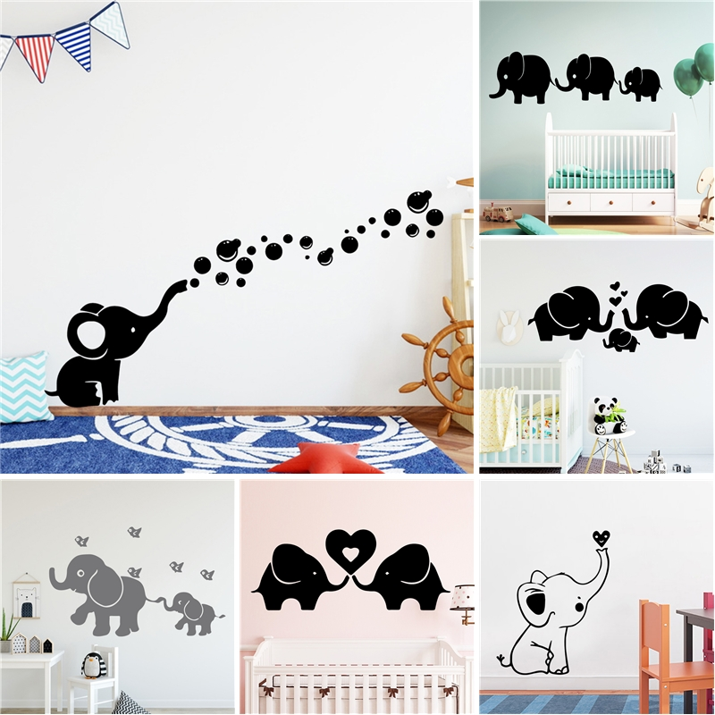 Elephant Vinyl Self Adhesive Wallpaper