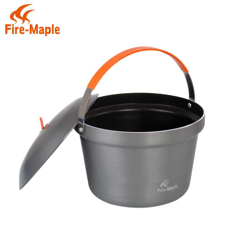 Fire maple product feast Outdoor camping picnic cooking pot Thicken the large capacity nonstick skillet Hanging pot