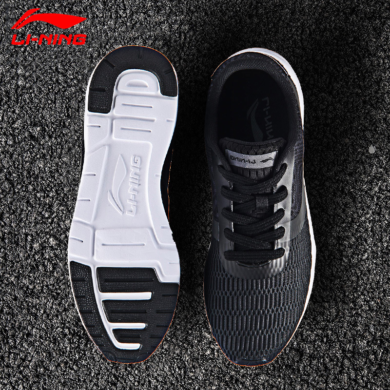 Li-Ning Men's Heather Walking Shoes LiNing Sports Life Breathable Sneakers Light Comfort Sports Shoes AGCM041