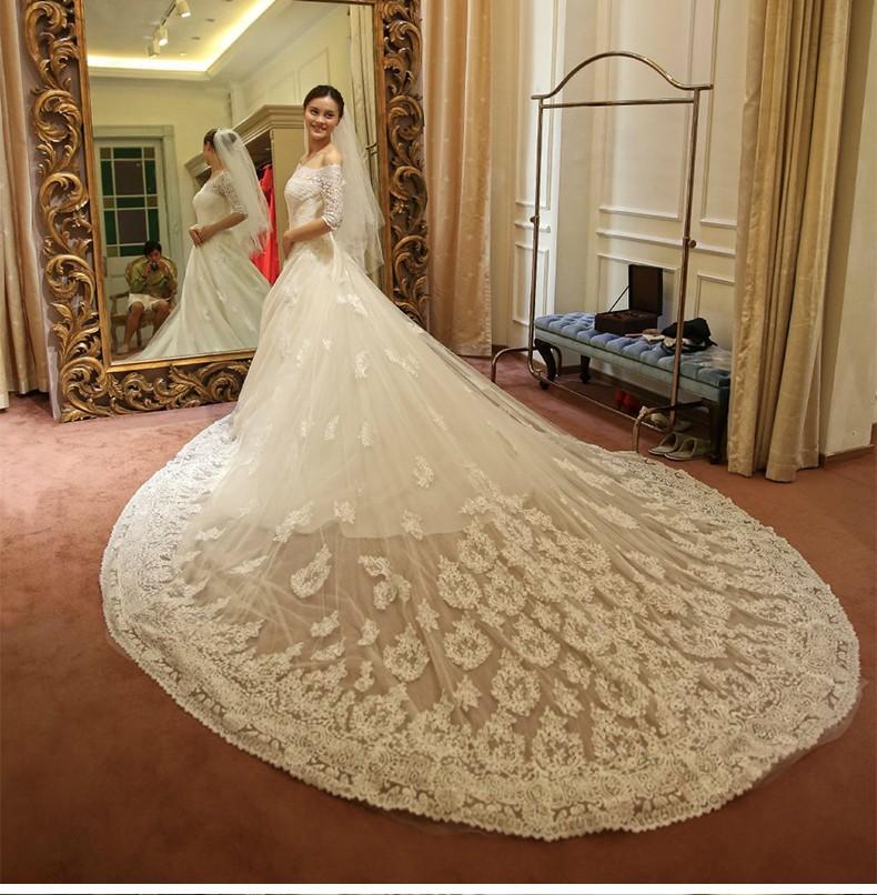 Gorgeous Wedding Dress Trains