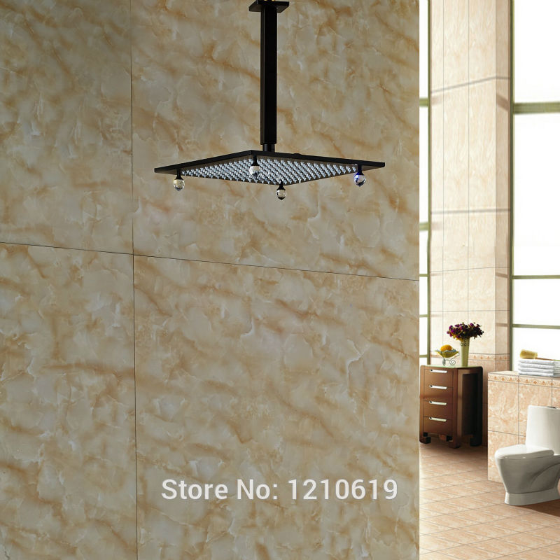 Newly 10 Inch Crystal Shower Head Ceiling Mount Oil Rubbed Bronze Top Shower Sprayer w/ Shower Arm стоимость
