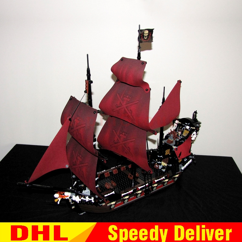 LEPIN 16009 1151Pcs Pirates The Caribbean Queen Annes Reveage Model Building Kit Set Blocks Brick legoings Toys Gift Clone 4195