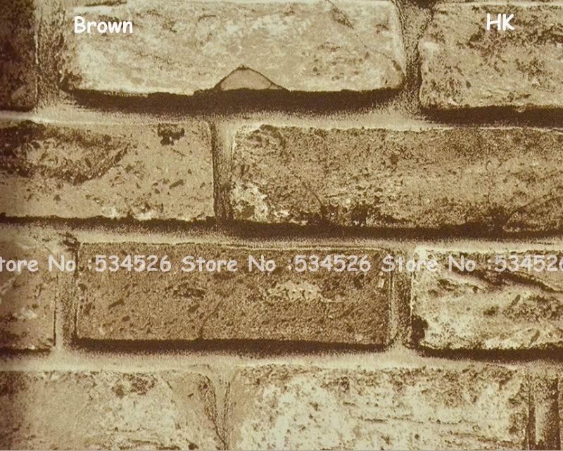 Behang Met Patroon : 5 kleuren baksteen behang roll papel de parede para quarto 3d kamer
