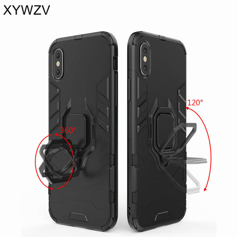 For Samsung Galaxy A70 Case Armor Protect Metal Finger Ring Holder Phone Case For Samsung Galaxy A70 Back Cover For Samsung A70 in Fitted Cases from Cellphones Telecommunications