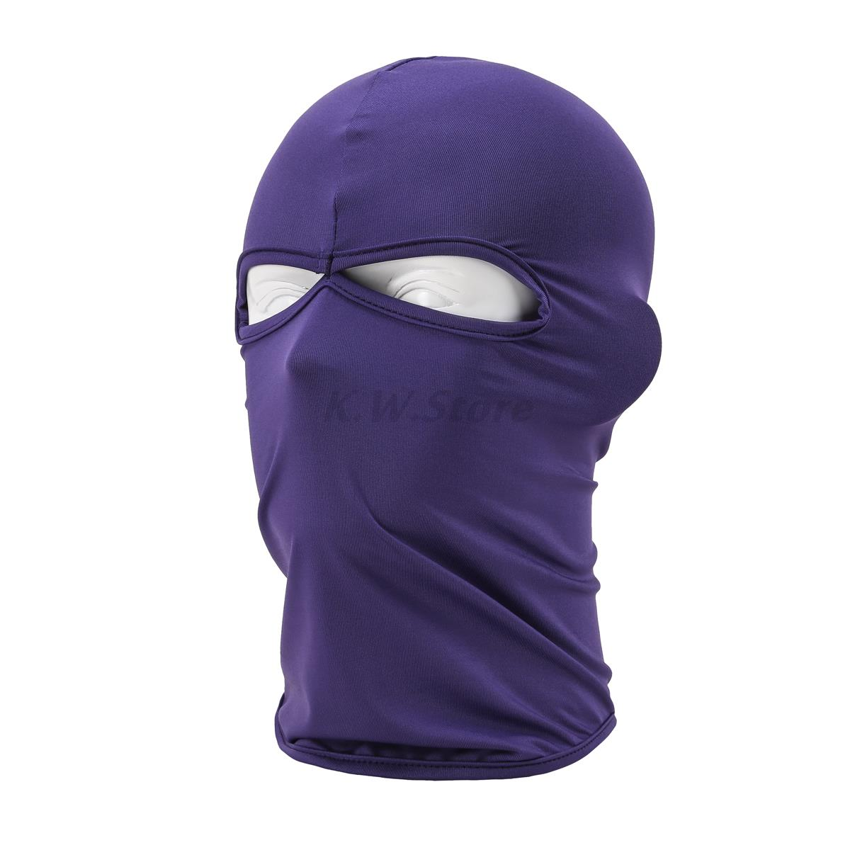 2017 New Ski Balaclava Masked Hat Hunting Motorcycle Head Cap Cycling Headwear Military Tactical War Game Maks Purple