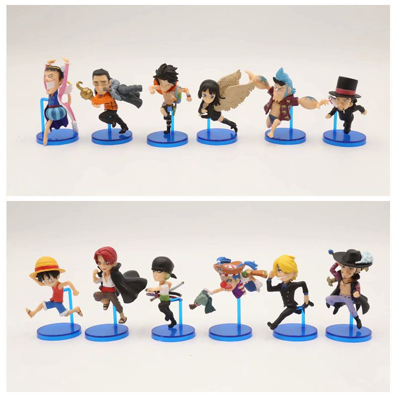 6 Pcs/Set One Piece Action Figure Anime Zoro sanji Luffy Ace WCF Fight Classic Collection PVC Model Toys
