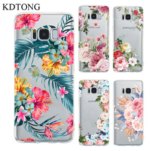 KDTONG Case sFor Samsung Galaxy S8 S9 Plus Fashion Transparent Soft Silicone TPU Cover For
