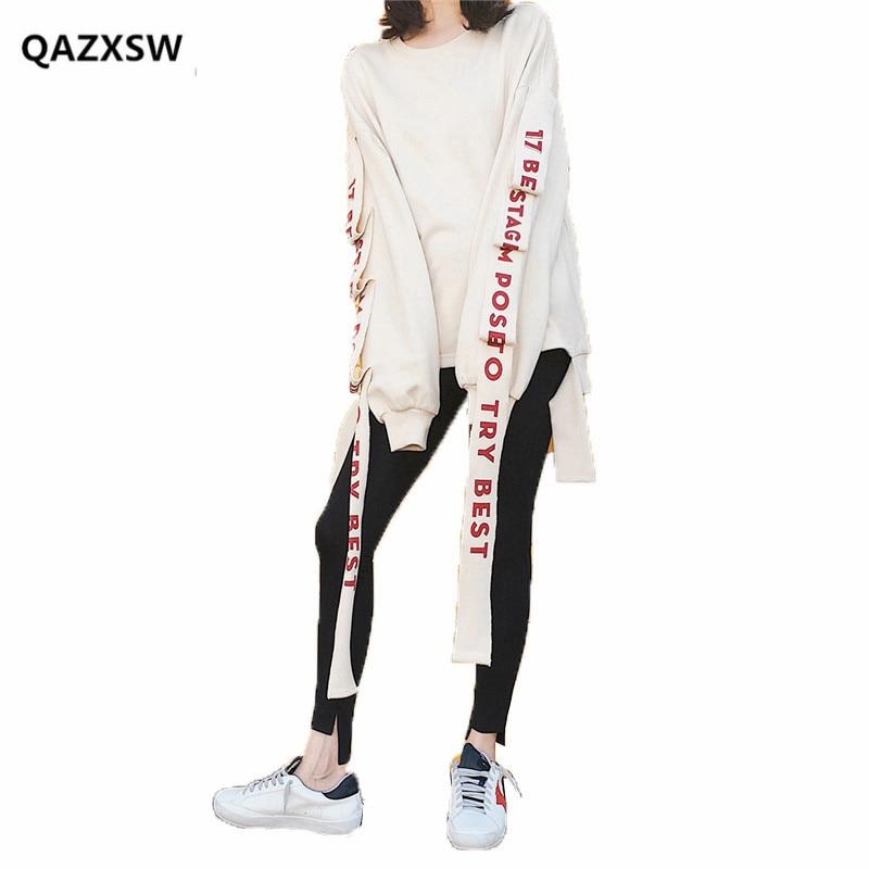 2018 nouveau printemps Sweatshirts femme BF lâche sauvage mode coréenne vague étudiant Harajuku Style à manches longues mince paresseux vent bts SY070