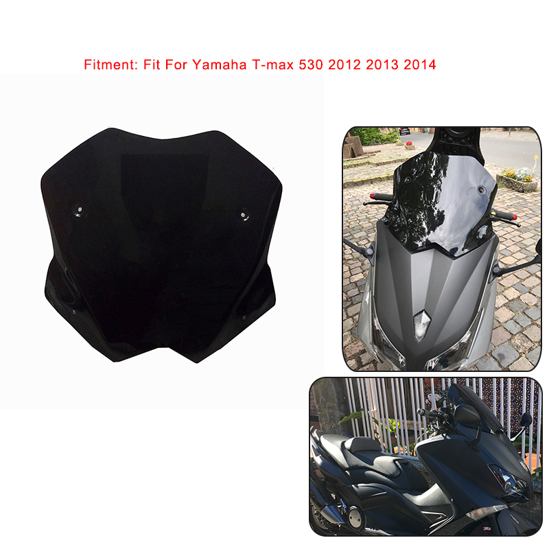 For Yamaha T-MAX T MAX TMAX 530 2012 2013 2014 Scooter Windscreen Windshield Deflectors For Yamaha T max 530 2012-2014 for yamaha t max 530 tmax t max 530 12 16 carbon fiber front fender splash mud dust guard mudguard protection