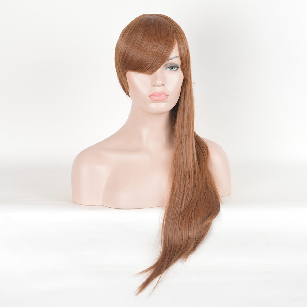 Ombre Brown Wigs Women's Synthetic Wig Long Straight Hair For Black Women Heat Resistant Fiber Cheap Cosplay