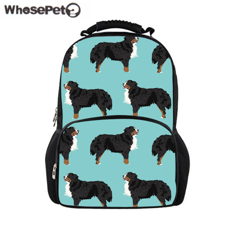WHOSEPET Girls Shoulder Backpacks for School Cute Dog Printing Laptop Bagpack Women Larg ...