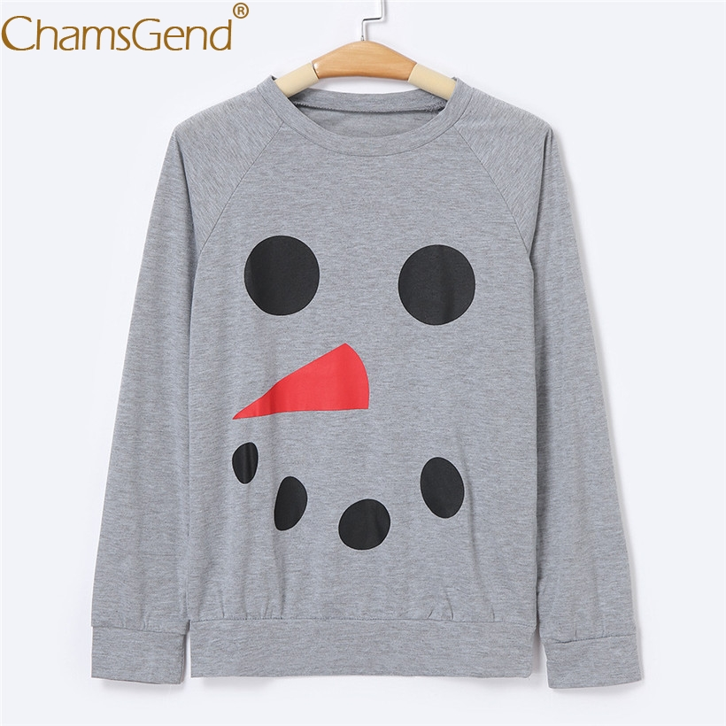 Men Shirts Casual Long Sleeve Round Neck Daddy Good Father Christmas Gray Pullover Shirt 80912
