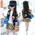 2013 autumn female child skull zipper-up sweatshirt coat  free shipping cute new arrive gril clothes