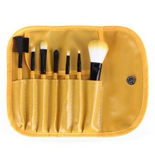 New 7Pcs Makeup Brushes Set Beauty Face Powder Eye Blush Comestic Brush Tool Kit With Bag Multicolor Random Color