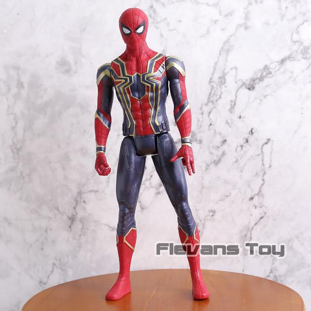 Marvel Avengers Infinity War Thanos Iron Spider Captain America Black Panther Hulk Hulkbuster Action Figure Toy 12″ 30CM