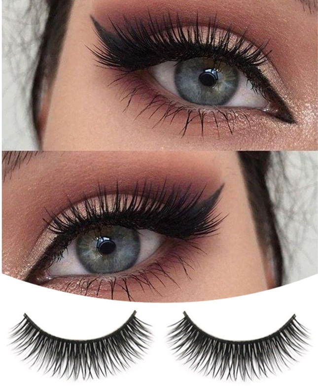 1 Pair False Eyelashes 1.5CM Length Natural Beauty Dense Soft Material Fibre A Pair False Eyelashes #F40