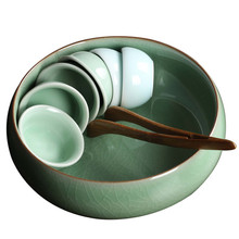 Большая чайная раковина китайское кун-фу аксессуары для чая керамический поднос для чайных чашек чаши 1 шт