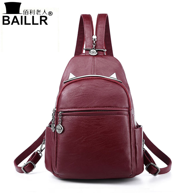 2017 New Women Backpacks Fashion Black Soft Leather Multifunction Zipper School Bags For Teenager Girls Female Travel Back Pack 2017 new women backpacks fashion black soft leather multifunction zipper school bags for teenager girls female travel back pack