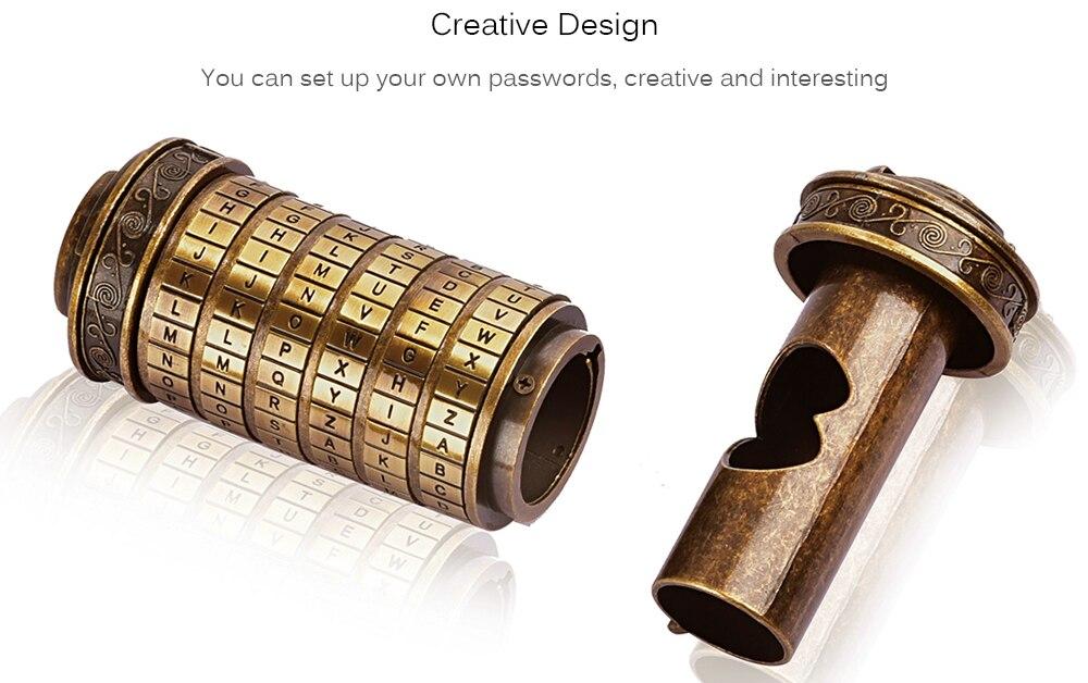 7. Leonardo Da Vinci Code Toys Metal Cryptex Locks