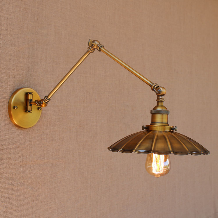 swing arm light. Nordic Brass Retro Loft Style Industrial Vintage Wall Lamp Adjustable Swing Arm Light Edison Sconce Applique Murale-in LED Indoor Lamps From