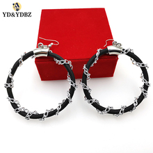 YD&YDBZ 2019 Womens Earrings Handmade Rubber Chains Ear Earring  Designer Accessories New Large Pendant Holiday Gift
