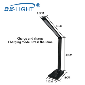 Image 3 - 3 Level Brightness Adjustable USB LED Desk Lamp Multifunction Qi LED Table Lamp 5W Touch Switch USB/Wireless Charger Table Lamp