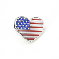 Customized Newest Flag Shape Brooch Multi Color Bow Patriotic Brooches for USA July 4th Decorationlot american flag Shape