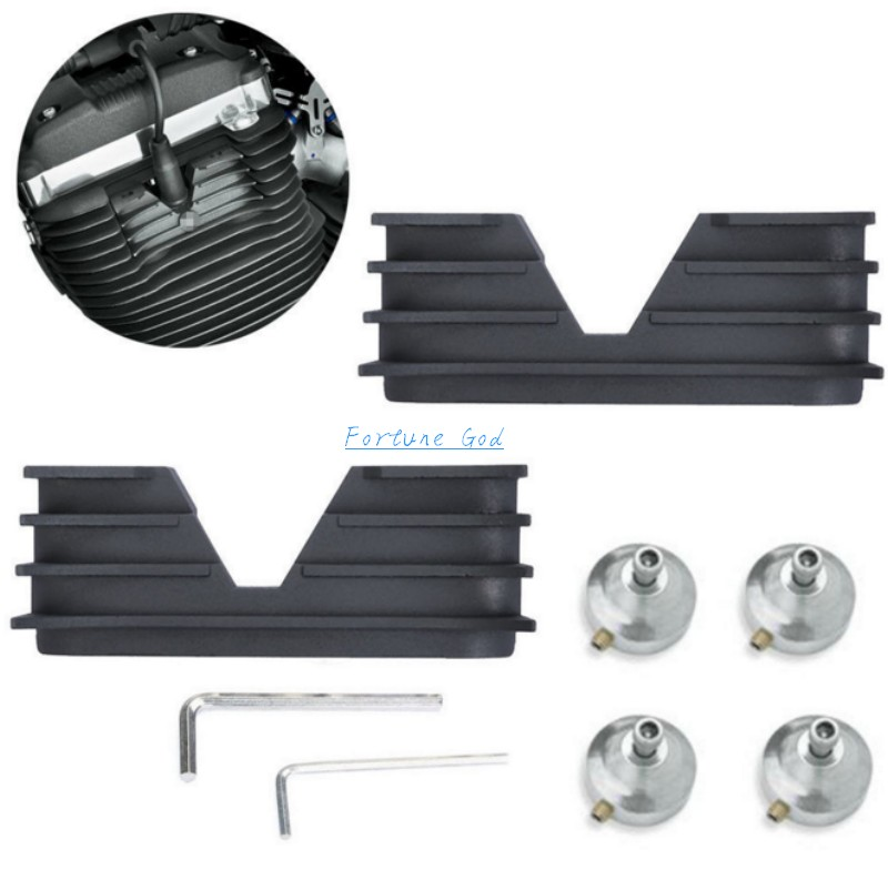 Spark Plug HeadBolt Covers Bridge For Harley Sportster XL1200 XL883 2004-2016 detachable luggage saddlebag cargo rack support shelf mounting screws for harley sportster xl883 xl1200 x48 2004 2016 solo seat