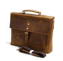 New crazy horse leather bag handbag leather briefcase business men Leather Shoulder Bag
