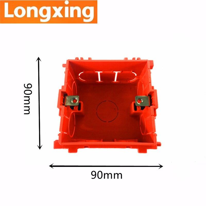 88mm 85mm 53mm Longxing Multifuntion Socket Mounting Junction Box Internal Cassette Orange PVC Back Dark Box
