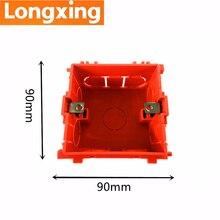 купить 88mm*85mm*53mm Longxing Multifuntion Socket Mounting Junction Box Internal Cassette Orange PVC Back/Dark Box Standard Switch Box по цене 148.49 рублей