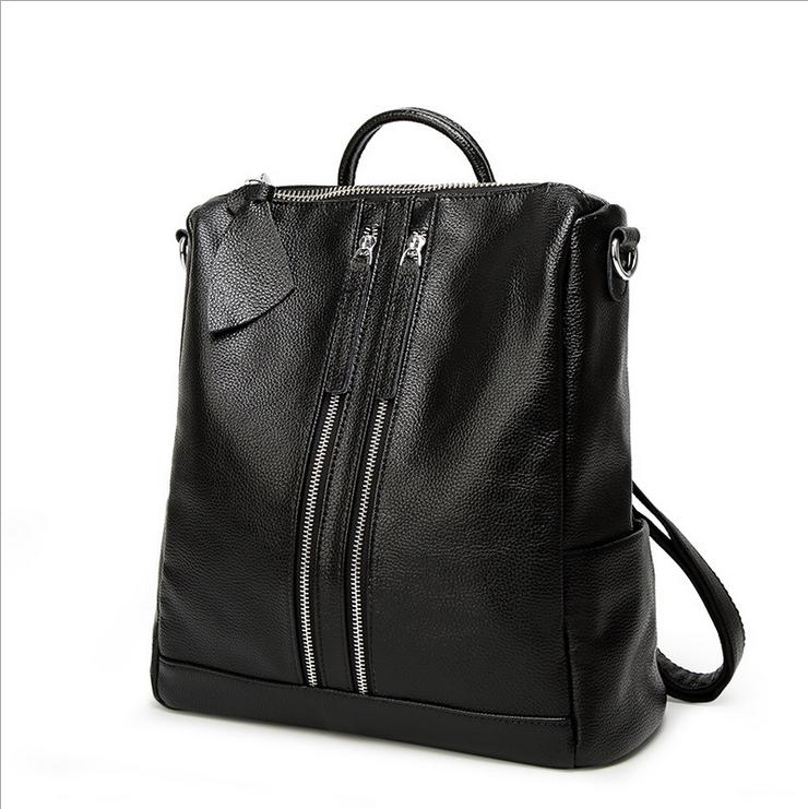 2017 Fashion Brand Genuine Leather Women Backpack School Bags For Teenagers Girls Female Travel Back Pack Shoulder bag Mochila