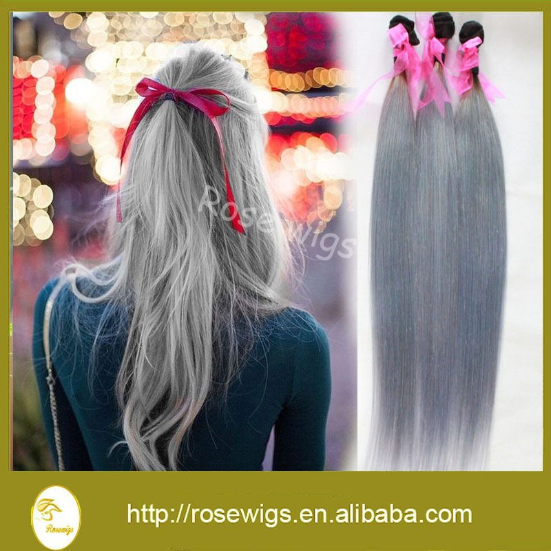 Brazilian hair straight weaving hair extension ombre human hair brazilian hair straight weaving hair extension ombre human hair extensions 1bsilver hair weft no shedding no tangle 3pcslot in hair weaves from hair pmusecretfo Choice Image