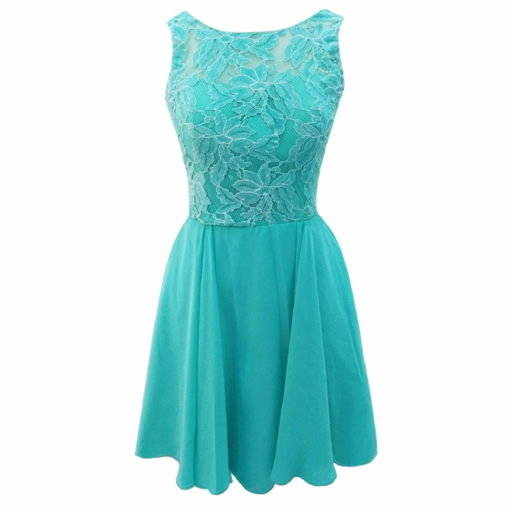 Popular Short Turquoise Bridesmaid Dress-Buy Cheap Short