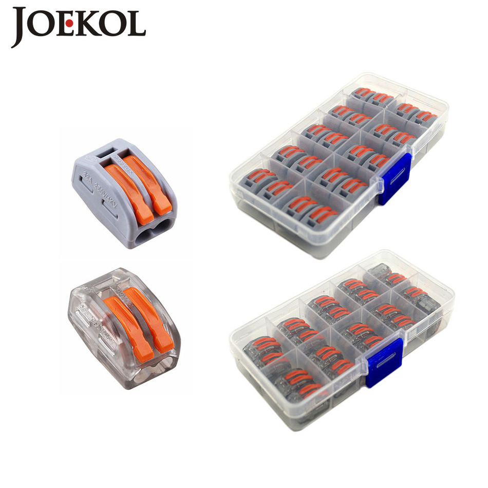 20pcs  Box  Mini Fast Wago Connector 222 412 Pct212
