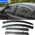 Carro Stylingg Toldos Abrigos 4 pçs/lote Viseiras Da Janela Para Mazda 6 Sedan 2006-2016 Sol Chuva Escudo Adesivos Covers