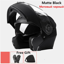 2018 good New Flip Up Racing helmet Modular Dual lens Motorcycle Helmet full face Safe helmets Casco capacete casque moto M L XL