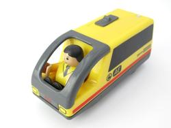 Combination of magnetic electric locomotive TTO25 Steward Carriage Wooden Track compatible with brio track train set