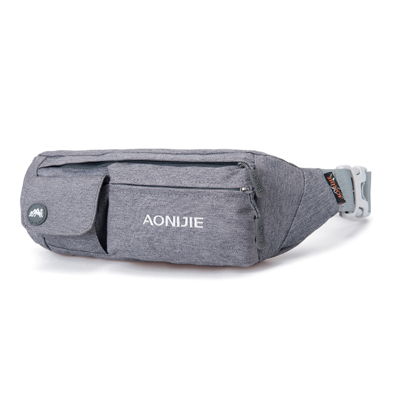 AONIJIE Men Women Running Bag Outdoor Sport Pouch pinggang Racing Hiking Camping Gym Kecergasan Anti-theft Belt Hip Bag