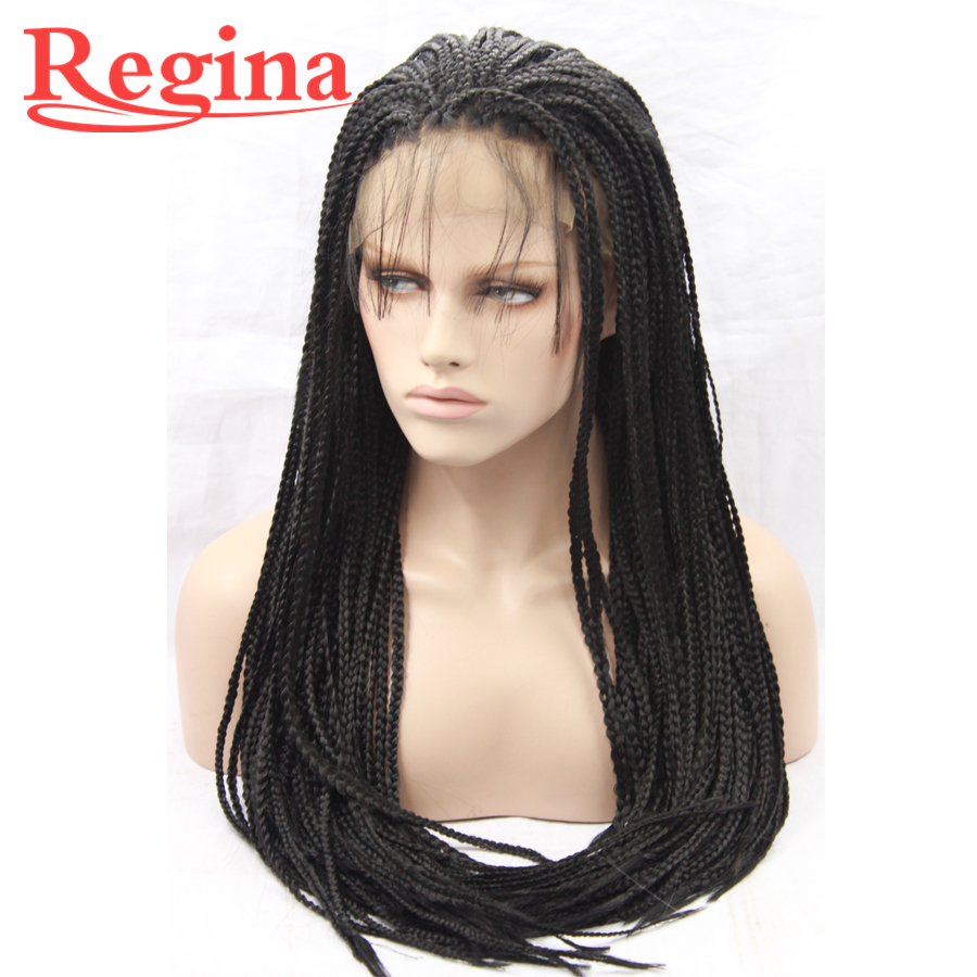 Wigs Braided Lace Front Wigs Natural Color Virgin Wigs For