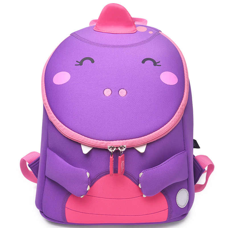 Cute Dinosaur School Backpacks for Girls Boys 3D Animals Designer  Waterproof Children Schoolbag Student Kids Bag 146f291043dcb