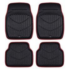 Car-pass Универсальный Автомобильный Коврики для авто Коврики резиновые для автомобиля красные, черные автомобиля Коврики стайлинга автомобилей интерьер Авто Коврики