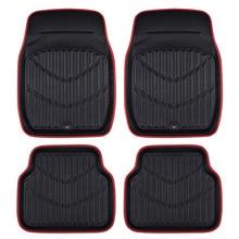 Car-pass Universal de la Nueva Llegada estera Del pie Del Coche para auto antideslizante mat rojo Negro Tapetes de Coche Car Styling Interior Auto floor mats